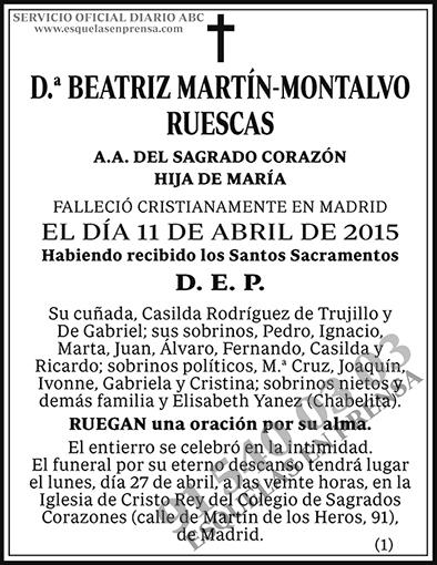 Beatriz Martín-Montalvo Ruescas